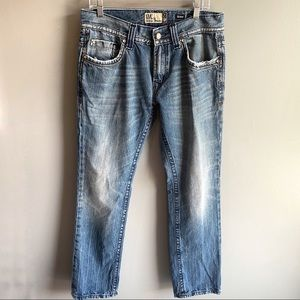 Rerock Rome Skinny Flap Pocket Jeans